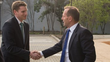 Andrew Hastie has Tony Abbott's support for Canning.