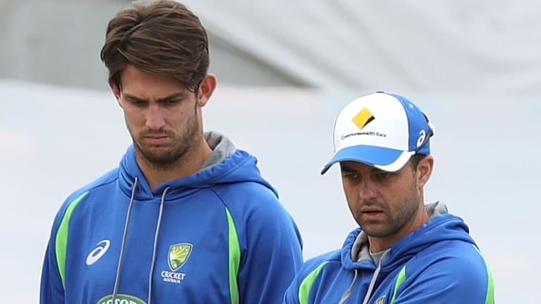 In and out: Mitch Marsh has been dropped for Callum Ferguson for the second Test in Hobart.
