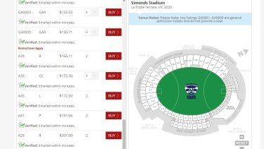 Those wanting to buy multiple reserved seat tickets have to buy via the Ticketmaster Resale site.