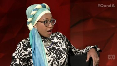 Yassmin Abdel-Magied on Q&A in February.