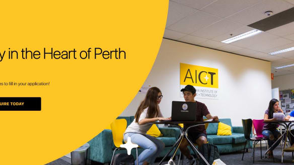 Perth training centre goes bust, but tells students it's closing for 'renovations'