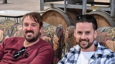 Moon Dog owners Josh Uljans and Karl van Buuren at the site of their new brewery in Preston.