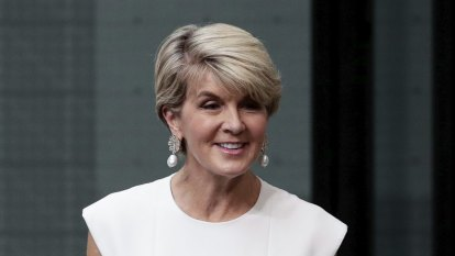 The shoe trend we couldn't dream of Julie Bishop trying