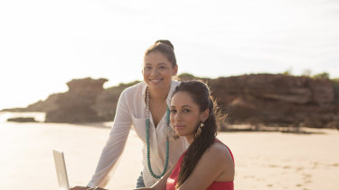 Cara Peek (R) and sister Adele Peek are involved in growing indigenous businesses in Broome and surrounds.