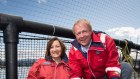 Huon Aquaculture's Frances and Peter Bender together own about a 66 per cent stake in the company.