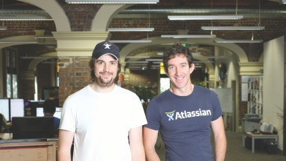 Atlassian founders worth $10 billion each after record stock rise