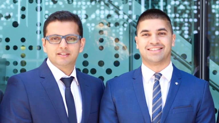 """Founders of the CancerAid app, Dr Raghav Murali-Ganesh (left) and Dr Nikhil Pooviah, aim to """"put the power within the hands of the patient""""."""