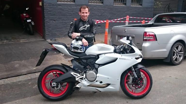 Warren Harrison with his 2015 Ducati 899 Panigale.