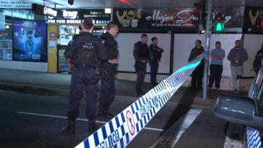 Memorial Avenue was blocked by police wearing bulletproof vests.