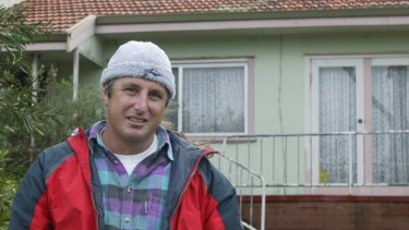 Author Tim Winton at the house in Hillman Street, Albany, where he spent his teenage years.