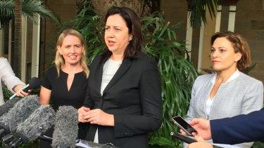 Queensland Premier Annastacia Palaszczuk announces a cabinet reshuffle with Deputy Premier Jackie Trad and Tourism Minister Kate Jones.