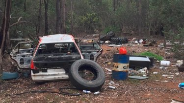 Local Sharon Gibson was collecting firewood with her brother when she came across this mess.