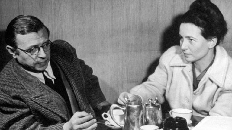 Jean-Paul Sartre and his partner Simone de Beauvoir: brilliant but also cruel and exploitative.