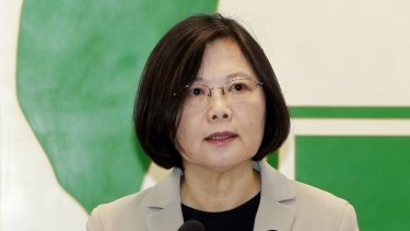 Taiwan's opposition Democratic Progressive Party presidential candidate Tsai Ing-wen.