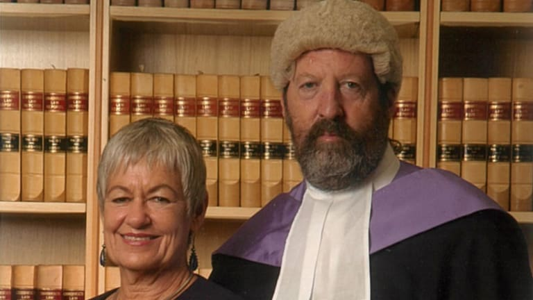 Judge Robert Toner with his wife Helen on being appointed a judge.