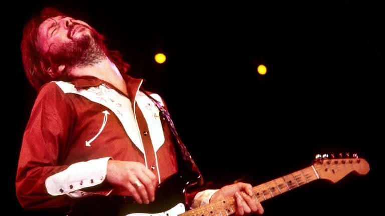 Eric Clapton performing live.