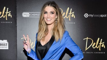 In trouble: Delta Goodrem has reportedly lost her licence for speeding.