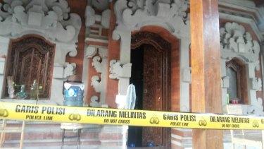 The Sanur residence where Stephen Richardson's body was found.