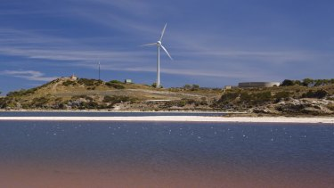 "The ""offending"" wind turbine on Rottnest Island."