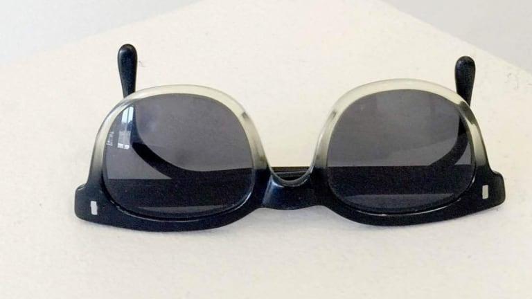 Luke Chiswell's best op-shop find: Surplus mining glasses.