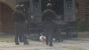 A man is taken into custody in Noble Park.