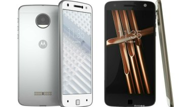 Leaked images supposedly of Motorola's forthcoming Moto X modular phones.