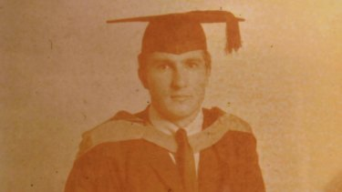 Michael Arlington, graduating from UNSW with his medical degree in 1969.