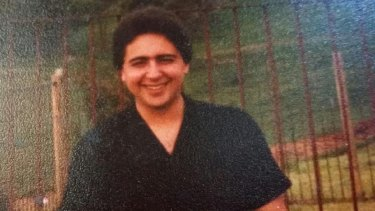 Anthony Virgona at his sister-in-law's house in the 1980s.