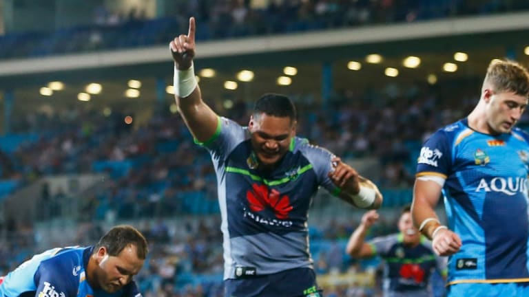Raiders coach Ricky Stuart bask Joey Leilua as the best right centre in the NRL.