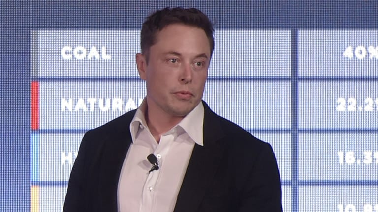 Elon Musk, co-founder and chief executive officer of Tesla.