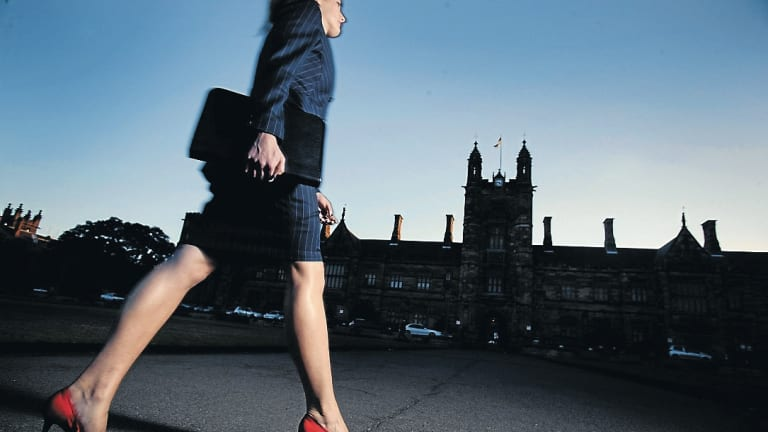 High heels or not? It's a question women, not men, face when trying to work out their daily work wardrobe.