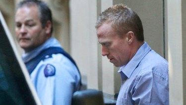 Adrian Ernest Bayley leaving court during his trial for Jill Meagher's murder and rape.