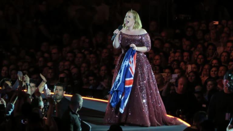 Adele in concert Etihad arena Saturday night, March 18, 2017. Photo: Leigh Henningham