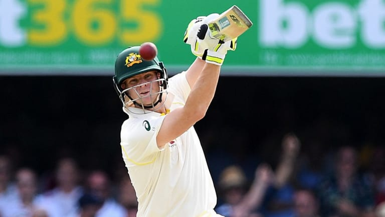 Timing: Steve Smith goes on the offensive at the Gabba.