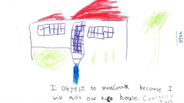 A child's submissions to the Department of Planning and Environment.