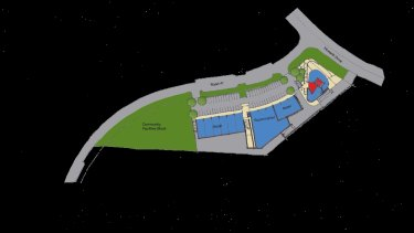 A map of the retail and community space proposed for Denman Prospect.