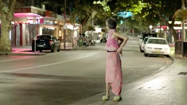Where the bloody hell are you? ... Lee Lin Chin looks back at a deserted Sydney street in an SBS spoof attacking the lockout laws.