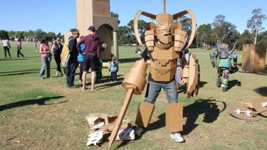 Cardboard costume construction for Box Wars by Liam McLachlan.