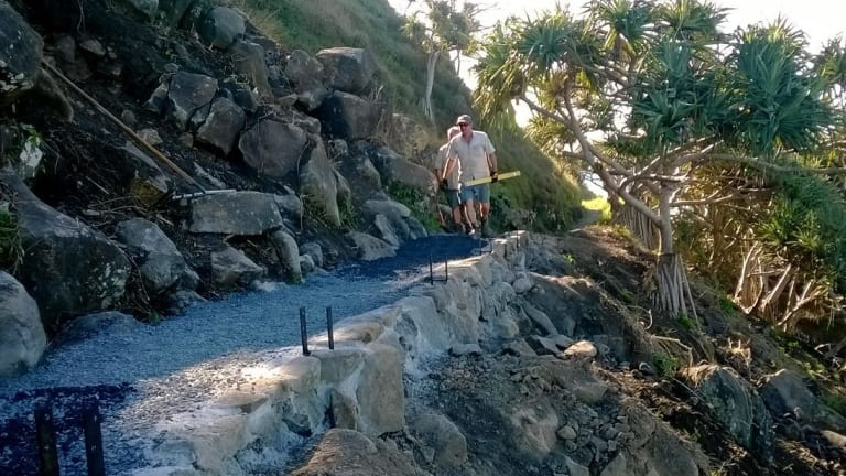 Burleigh National Park - after the repairs