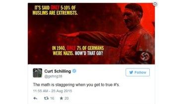 Schilling's tweet was swiftly deleted.