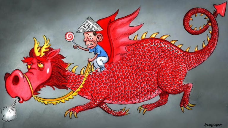 The Chinese dragon is losing some puff