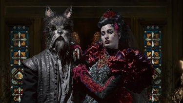 Shot at the Labassa mansion, the Angels and Wolves series (detail) evokes a sense of Victorian Gothic.