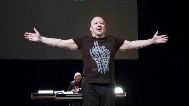 Nikolai Khalezin in Belarus Free Theatre's <i>Generation Jeans</i>.