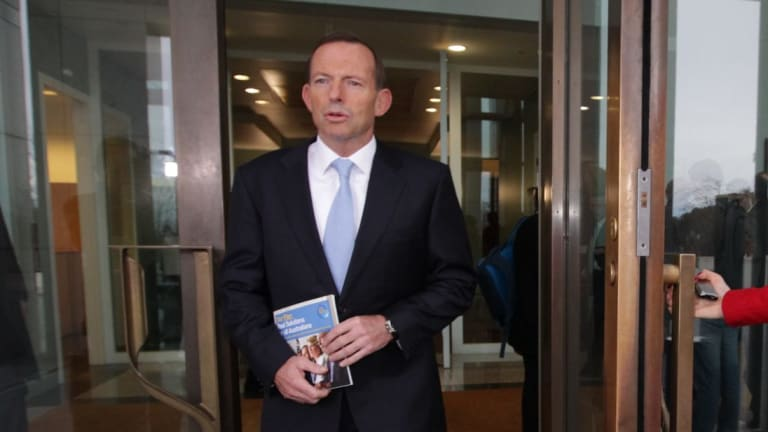 Asylum seekers should come through the front door, says Prime Minister Tony Abbott.