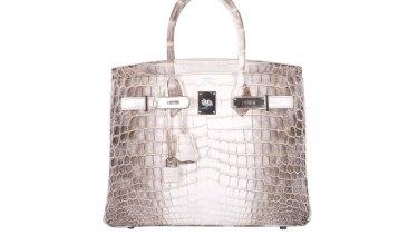 bc815050899 A Hermes Himalayan Crocodile Blanc Birkin handbag.