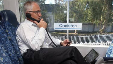 Connected: Malcolm Turnbull in 2013.