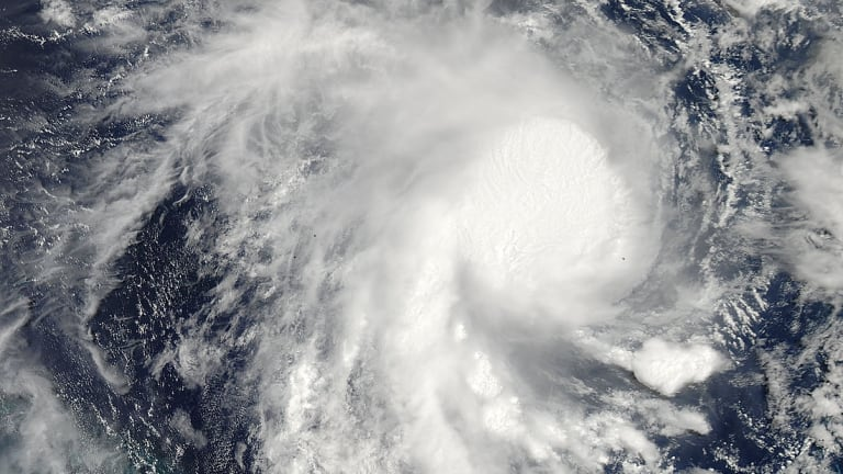 A NASA satellite has captured an image of Cyclone Marcia as it bears down on the Queensland coast.