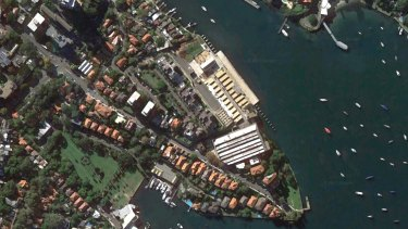 The HMAS Platypus site in North Sydney.
