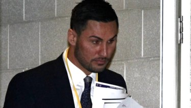 Salim Mehajer leaves Auburn council chambers in August.