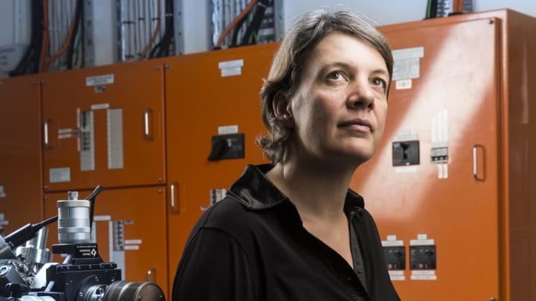 Professor Michelle Simmons in her labs at UNSW in 2015.